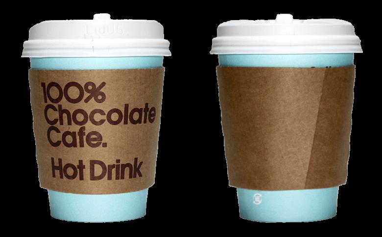 100%ChocolateCafe. (100%チョコレートカフェ)のテイクアウト用コーヒーカップ
