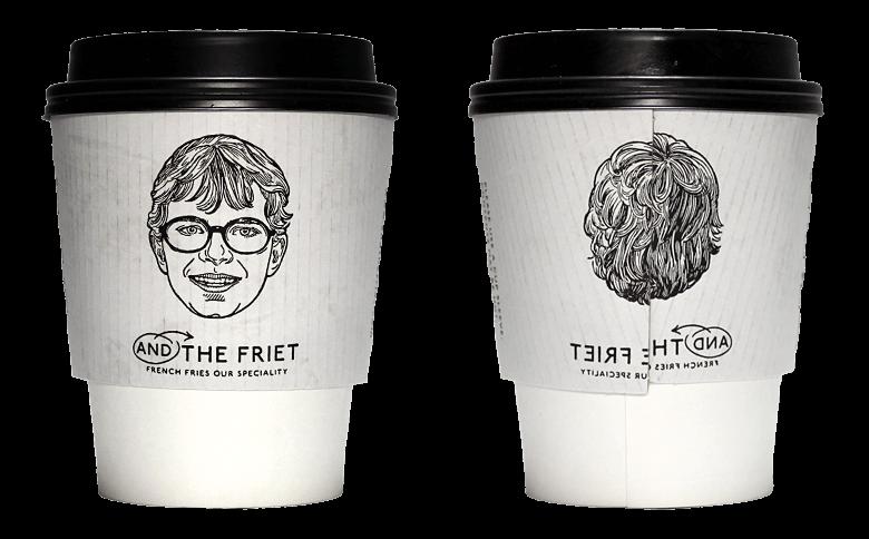 AND THE FRIET(アンド ザ フリット)のテイクアウト用コーヒーカップ