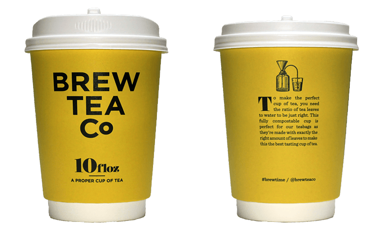 Brew Tea Co.(ブリュー ティー カンパニー)のテイクアウト用コーヒーカップ