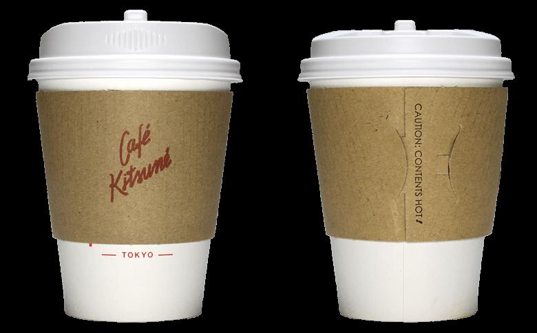 CAFE KITSUNE レッドバージョン(カフェ キツネ)のテイクアウト用コーヒーカップ