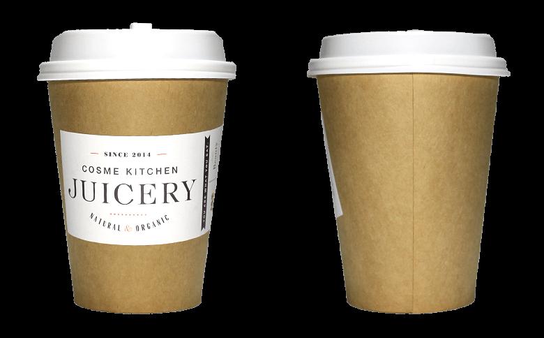 Cosme Kitchen JUICERY(コスメキッチン ジューサリー)のテイクアウト用コーヒーカップ
