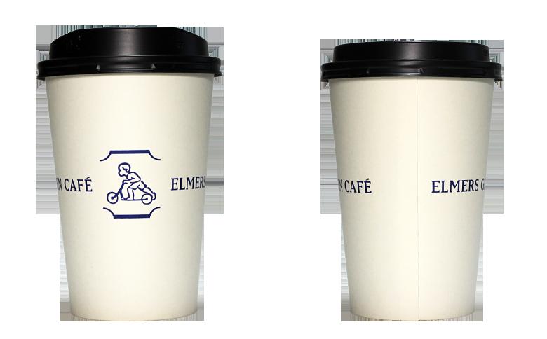 ELMERS GREEN CAFE(エルマーズグリーン カフェ)のテイクアウト用コーヒーカップ