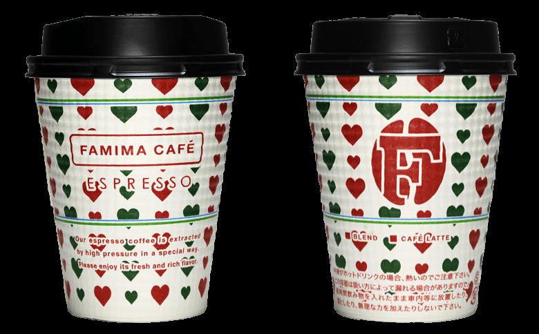 FamilyMart FAMIMA CAFE 2017年クリスマス限定のテイクアウト用コーヒーカップ