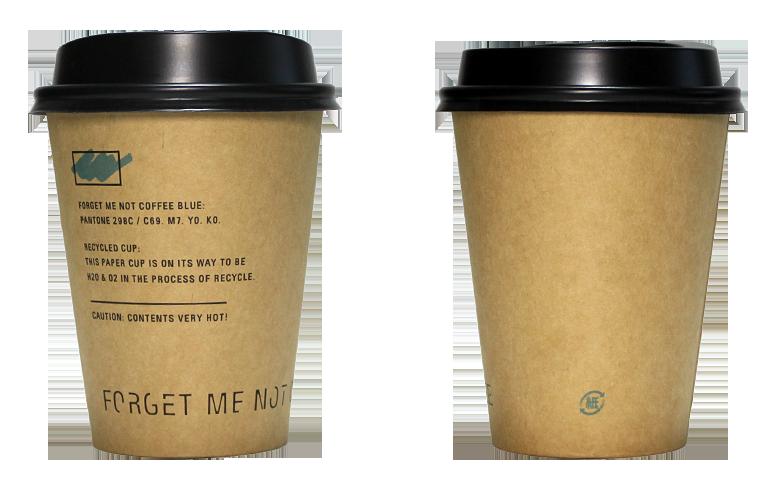 FORGET ME NOT COFFEE(フォーゲット ミー ノット コーヒー)のテイクアウト用コーヒーカップ