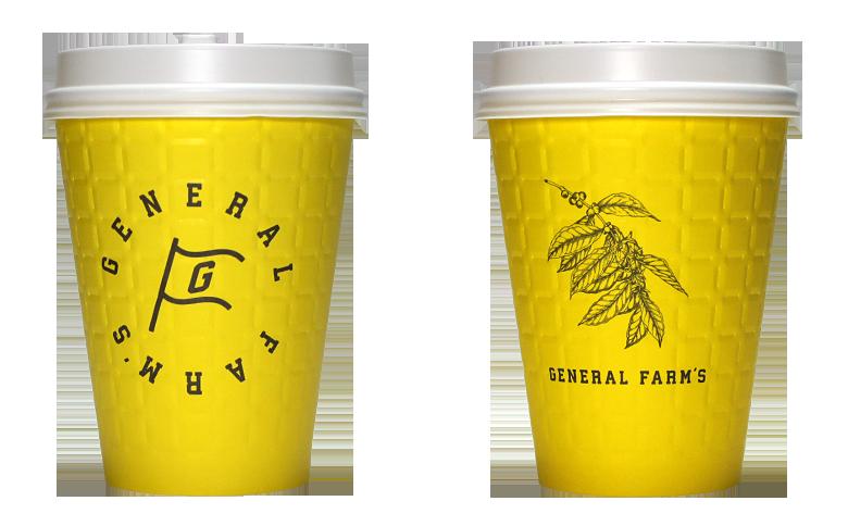 GENERALFARM'S(ジェネラルファームズ)のテイクアウト用コーヒーカップ