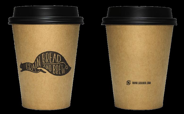 GRAIN BREAD AND BREW(グレイン ブレッド アンド ブリュー)のテイクアウト用コーヒーカップ