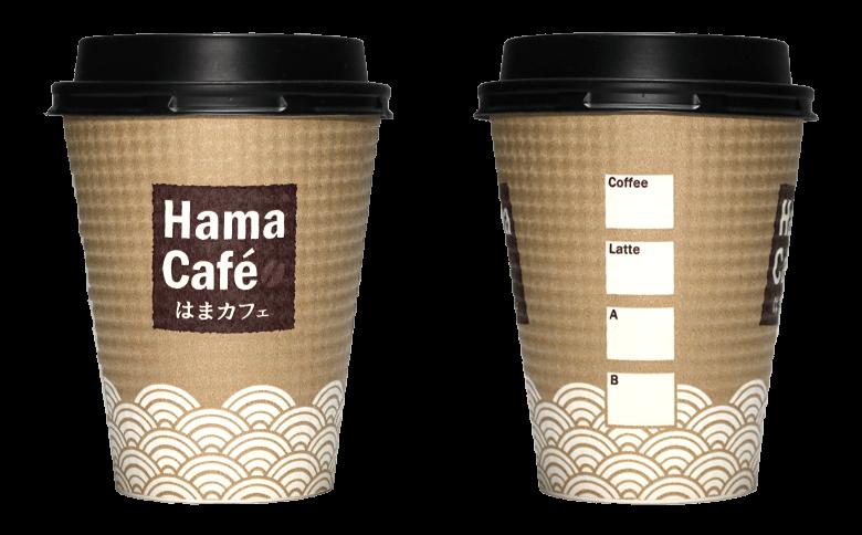 はま寿司(はまカフェ)のテイクアウト用コーヒーカップ