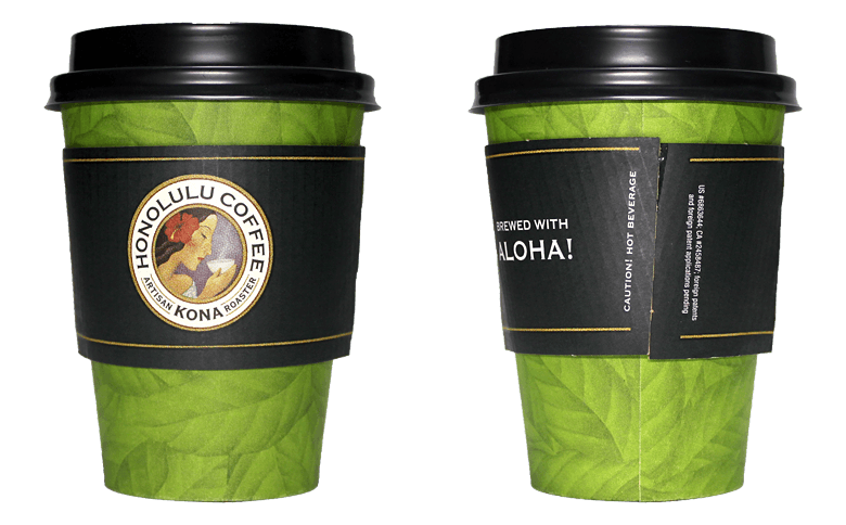HONOLULU COFFEE(ホノルルコーヒー)のテイクアウト用コーヒーカップ