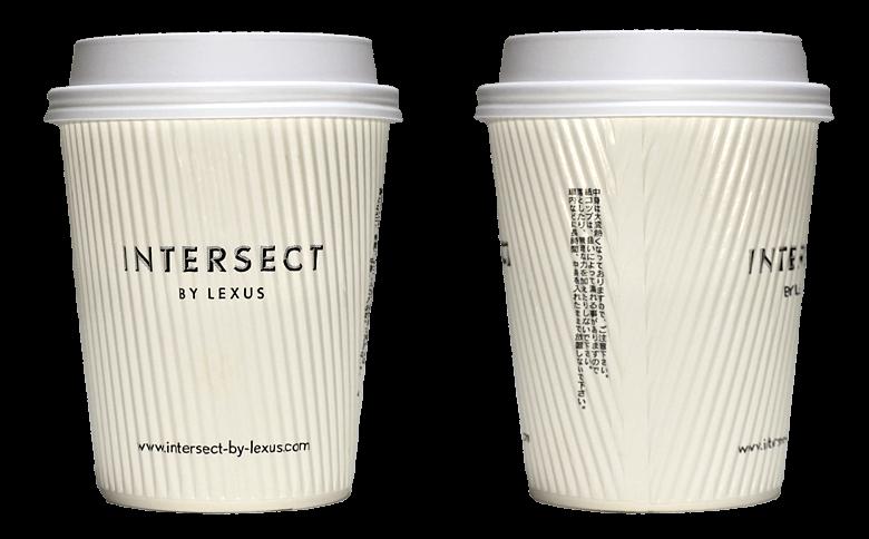 INTERSECT BY LEXUS(インターセクトバイレクサス)のテイクアウト用コーヒーカップ