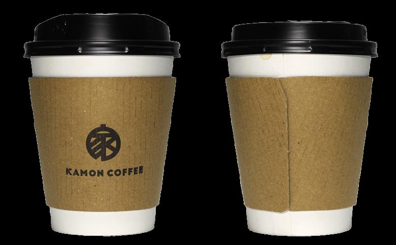 KAMON COFFEE(カモンコーヒー)のテイクアウト用コーヒーカップ