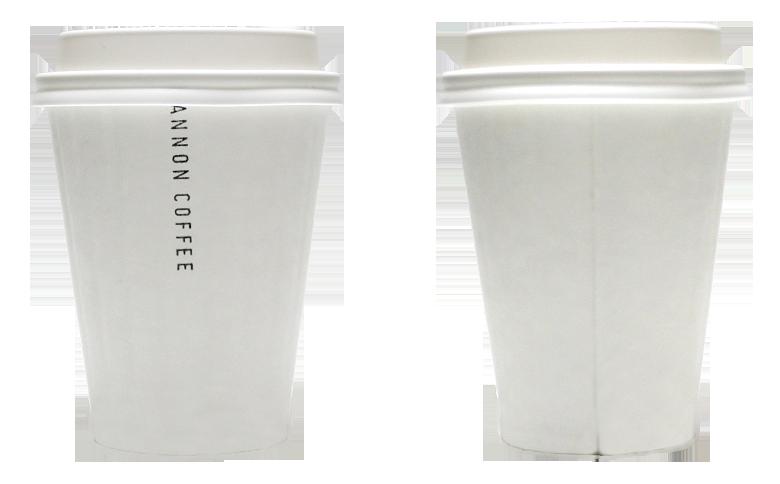 KANNON COFFEE(カンノン コーヒー)のテイクアウト用コーヒーカップ