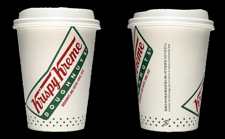 Krispy Kreme Doughnuts(クリスピー・クリーム・ドーナツ)のテイクアウト用コーヒーカップ