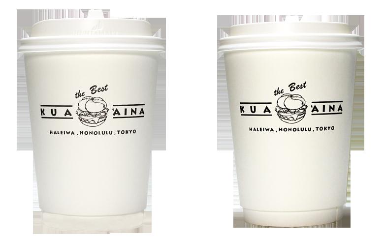 KUA AINA(クア・アイナ)のテイクアウト用コーヒーカップ