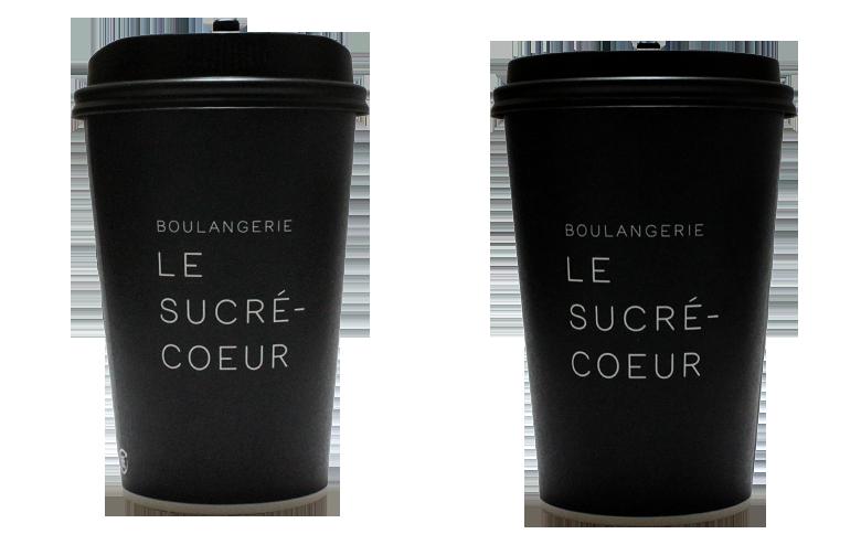 Le Sucre-Coeur(ル・シュクレ・クール)のテイクアウト用コーヒーカップ