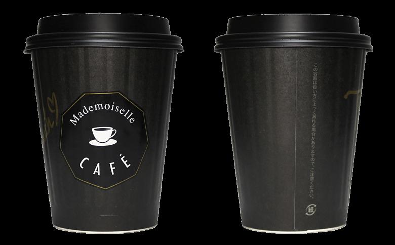 Mademoiselle CAFE(マドモワゼル カフェ)のテイクアウト用コーヒーカップ