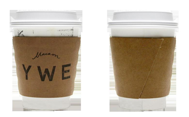 Maison YWE(メゾン イー)のテイクアウト用コーヒーカップ