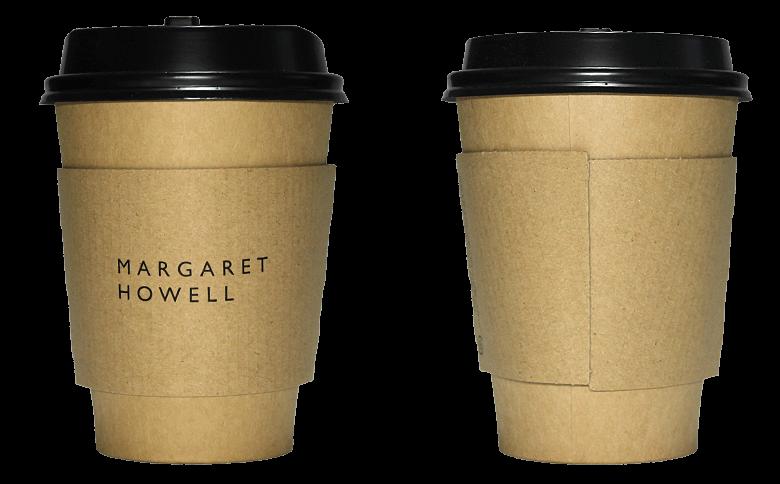 MARGARET HOWELL SHOP & COFFEE(マーガレット・ハウエル ショップ&コーヒー)のテイクアウト用コーヒーカップ