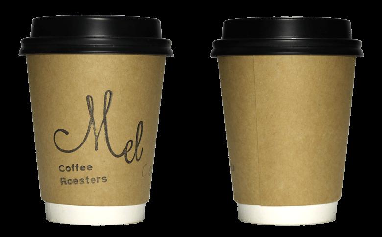 Mel Coffee Roasters(メル コーヒー ロースターズ)のテイクアウト用コーヒーカップ