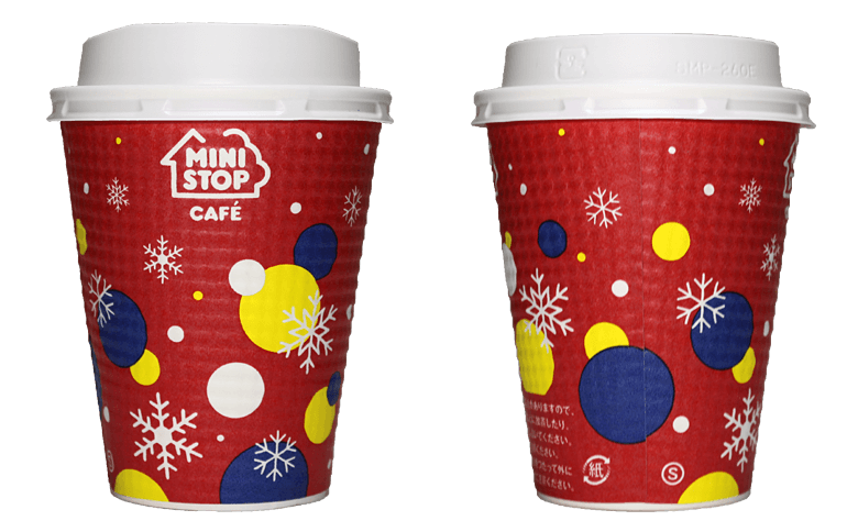 MINISTOP CAFE 2017年クリスマス限定(ミニストップカフェ)のテイクアウト用コーヒーカップ