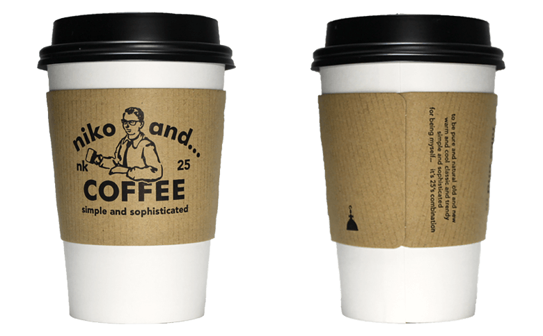 niko and... COFFEE ver.01(ニコ アンド コーヒー)のテイクアウト用コーヒーカップ
