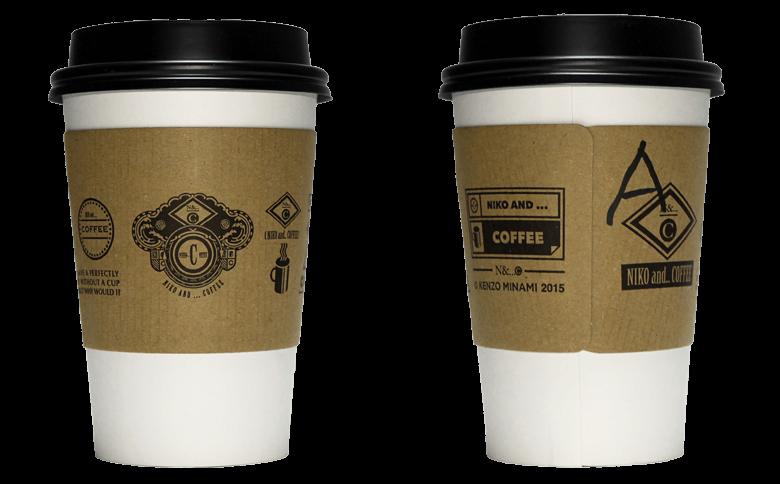 niko and... COFFEE ver.02(ニコ アンド コーヒー)のテイクアウト用コーヒーカップ