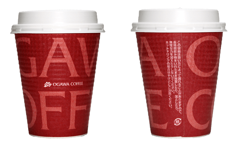小川珈琲(OGAWA COFFEE)のテイクアウト用コーヒーカップ