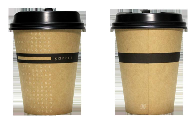 OMOTESANDO KOFFEE(オモテサンドウコーヒー)のテイクアウト用コーヒーカップ