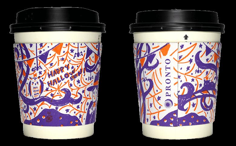 PRONTO 2016年ハロウィン限定(プロント)のテイクアウト用コーヒーカップ