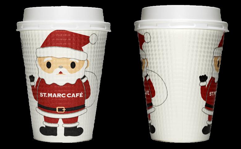 サンマルクカフェ 2017年クリスマス限定のテイクアウト用コーヒーカップ