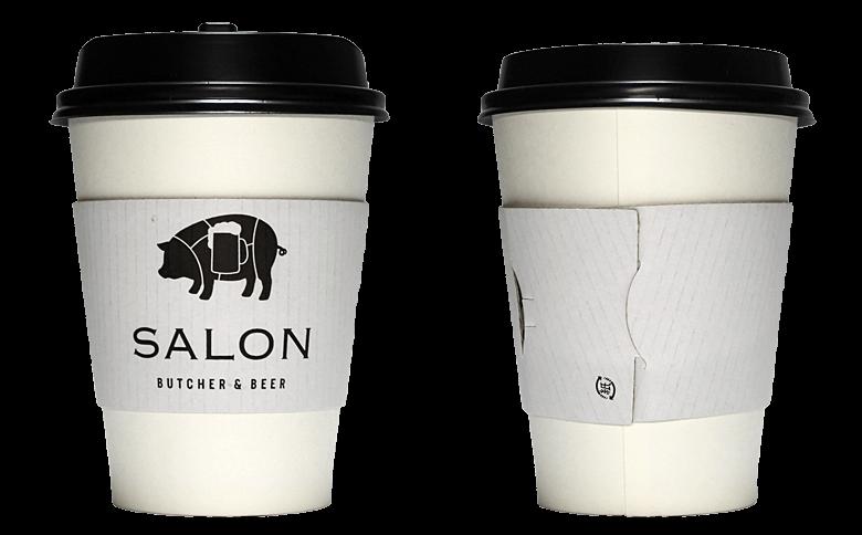 SALON BUTCHER & BEER(サロン ブッチャー アンド ビア)のテイクアウト用コーヒーカップ