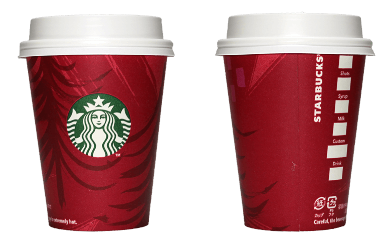 Starbucks Coffee(スターバックスコーヒー)2014年ホリデーシーズン限定レッドカップのテイクアウト用コーヒーカップ