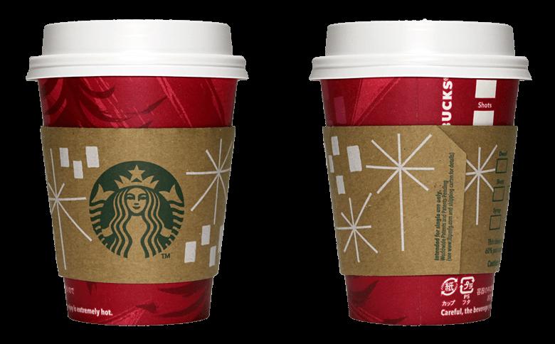 Starbucks Coffee(スターバックスコーヒー)2014年ホリデーシーズン限定レッドカップのテイクアウト用コーヒーカップ