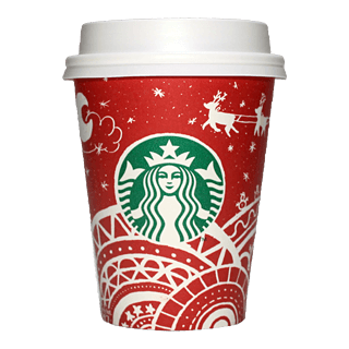 Starbucks Coffee 2016年ホリデーシーズン限定レッドカップ Sleigh Ride「ソリ」(South Korea)