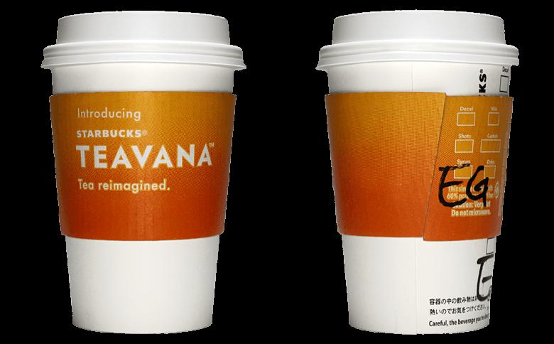 STARBUCKS TEAVANA(スターバックス ティバーナ)のテイクアウト用コーヒーカップ