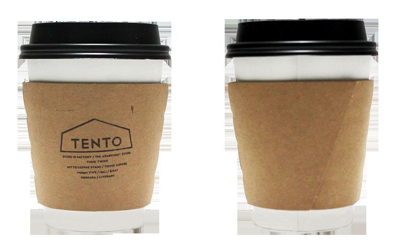 TENTOのテイクアウト用コーヒーカップ