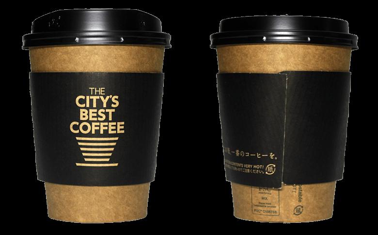 THE CITY'S BEST COFFEE (ザ シティーズ ベスト コーヒー)のテイクアウト用コーヒーカップ