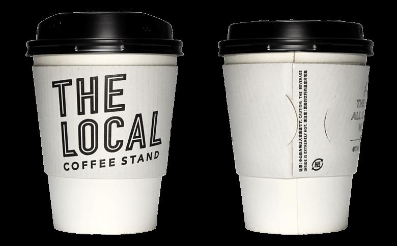 THE LOCAL(ザ ローカル)のテイクアウト用コーヒーカップ