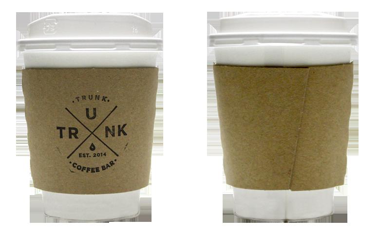 TRUNK COFFEE(トランクコーヒー)のテイクアウト用コーヒーカップ