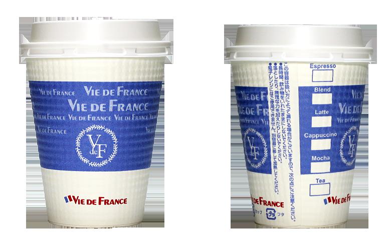 VIE DE FRANCE(ヴィ・ド・フランス)のテイクアウト用コーヒーカップ
