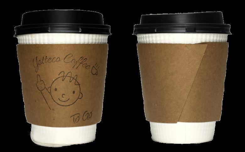 yottecocoffee(ヨッテココーヒー)のテイクアウト用コーヒーカップ