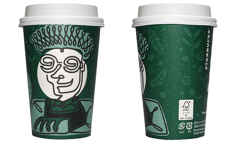 YOU & STARBUCKS 99% ETHICALLY CONNECTING DAY「KYU」のテイクアウト用コーヒーカップ
