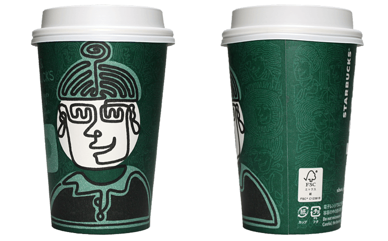 YOU & STARBUCKS Community Diversity&Inclusion「WELCOME」のテイクアウト用コーヒーカップ