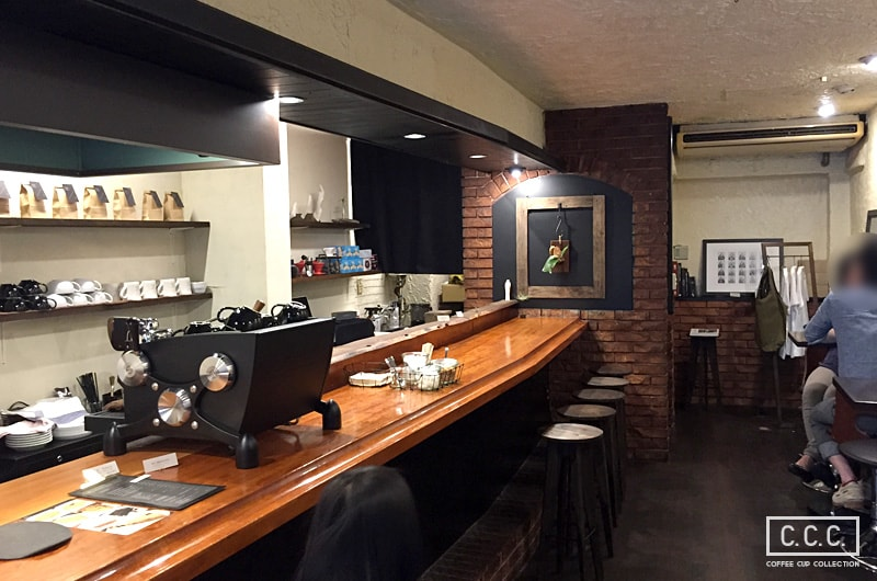MonoArt coffee roastersの店内