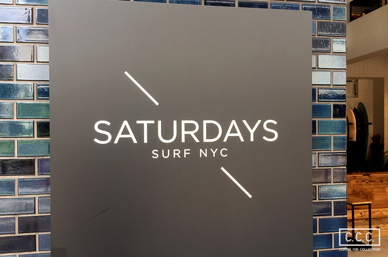 SATURDAYS SURF NYC OSAKAの看板