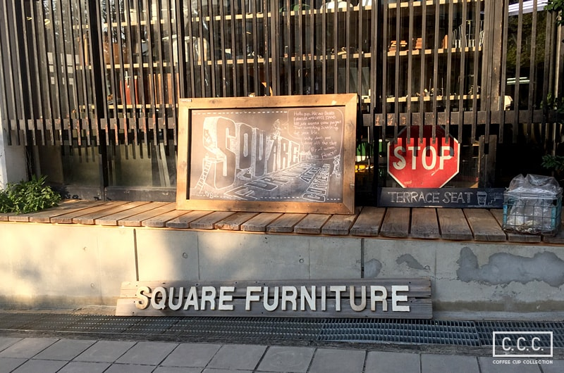 Square Furniture Coffee Standの看板