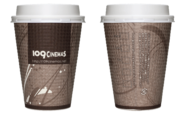 109CINEMAS(109シネマズ)のテイクアウト用コーヒーカップ