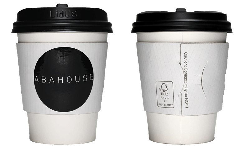ABAHOUSE CAFE(アバハウスカフェ)のテイクアウト用コーヒーカップ