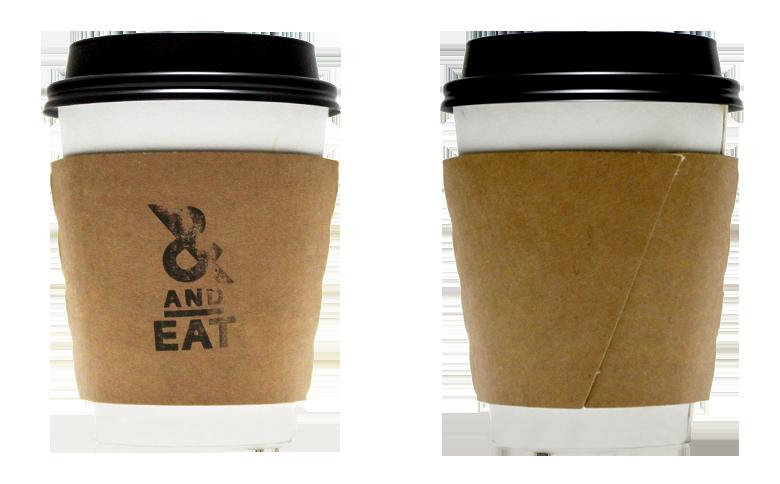 &EAT(アンドイート)のテイクアウト用コーヒーカップ