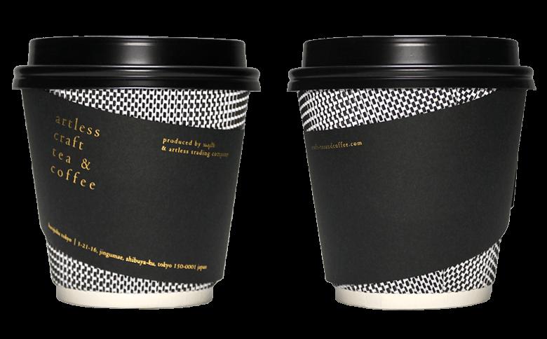 artless craft tea & coffee(アートレス クラフト ティー&コーヒー)のテイクアウト用コーヒーカップ