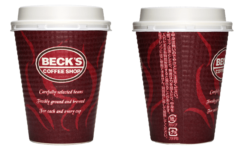 BECK'S COFFEE SHOP ver.01(ベックスコーヒーショップ)のテイクアウト用コーヒーカップ